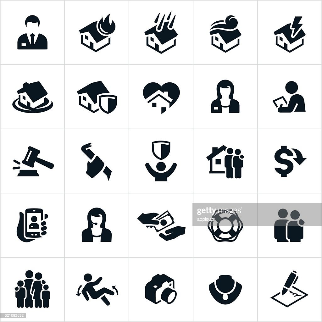 Homeowners Insurance Icons