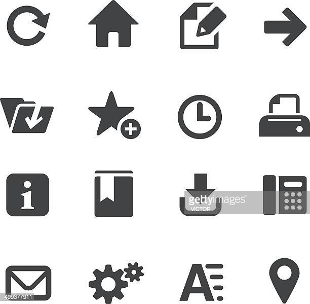 homepage icons - acme series - information symbol stock illustrations, clip art, cartoons, & icons