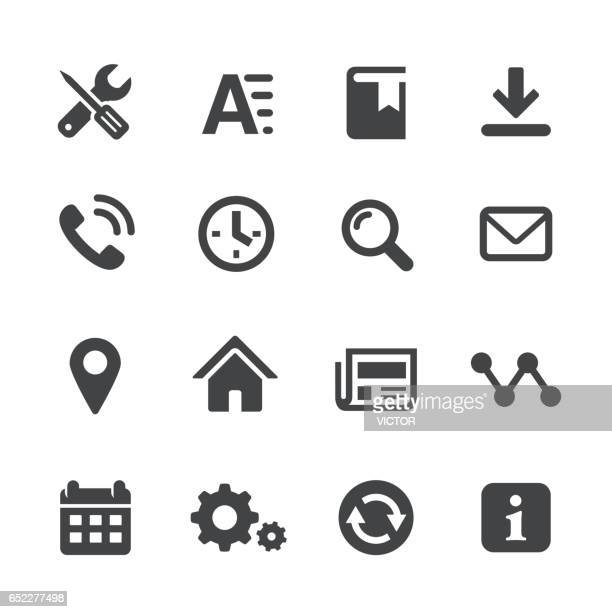 homepage icons set - acme series - information symbol stock illustrations, clip art, cartoons, & icons
