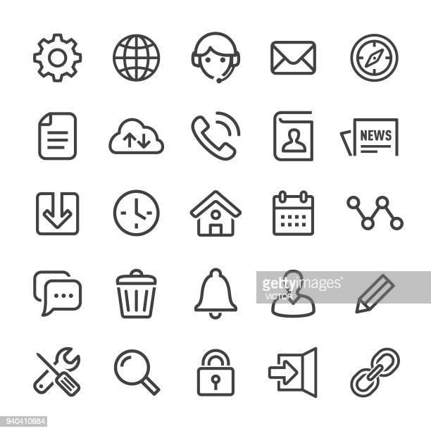 ホームページのアイコン - スマート ライン シリーズ - ホームページ点のイラスト素材/クリップアート素材/マンガ素材/アイコン素材