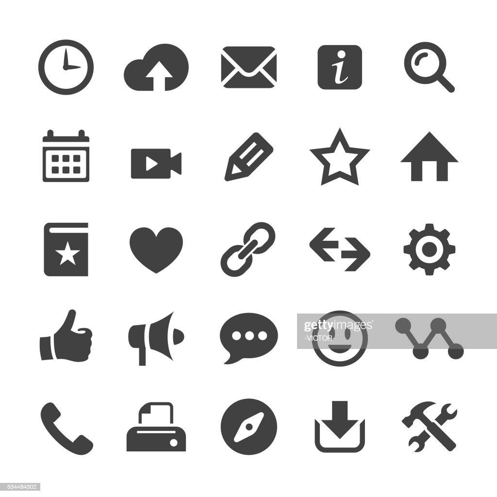 ホームページのアイコン-スマートシリーズ : ストックイラストレーション
