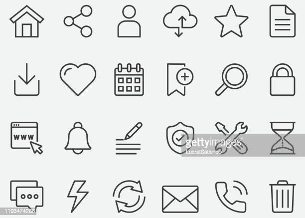 ホームページの線のアイコン - 発送書類入れ点のイラスト素材/クリップアート素材/マンガ素材/アイコン素材