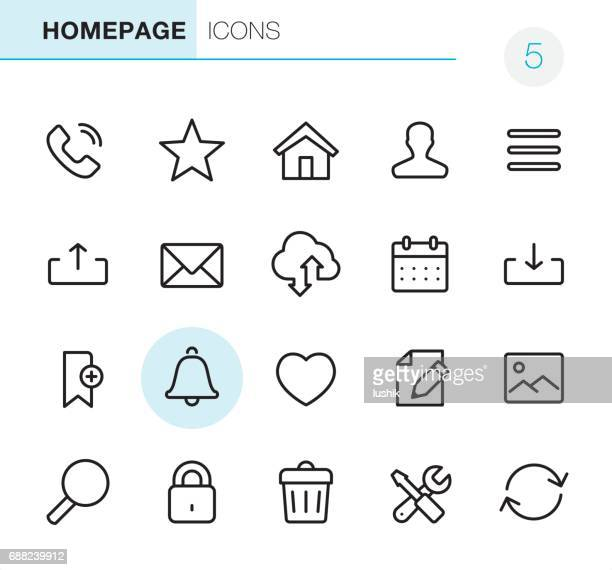 homepage - pixel perfect icons - e mail inbox stock illustrations