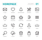 Homepage - Pixel Perfect line icons with captions