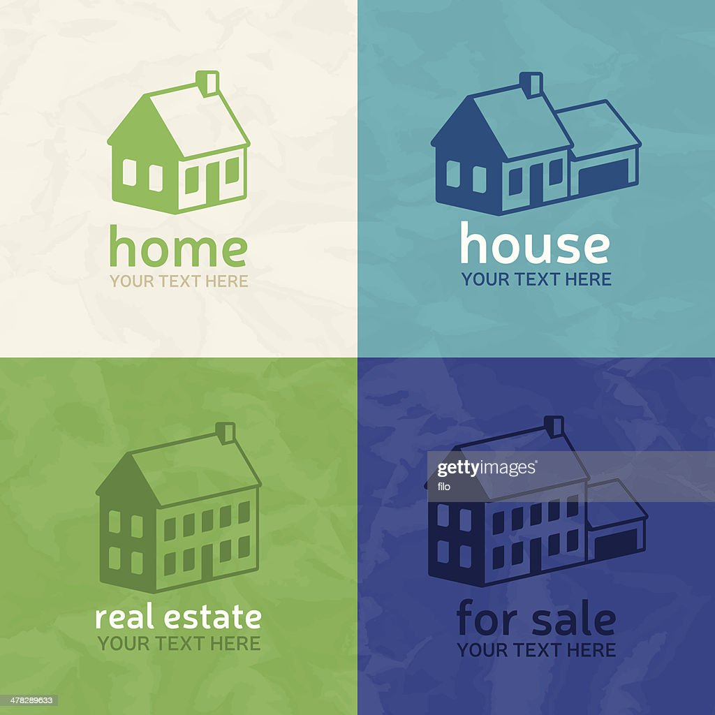 Homes and Real Estate : stock illustration
