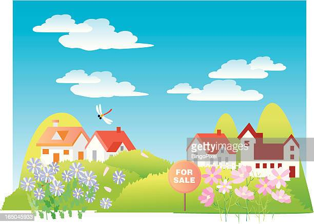 homes for sale - nice france stock illustrations, clip art, cartoons, & icons