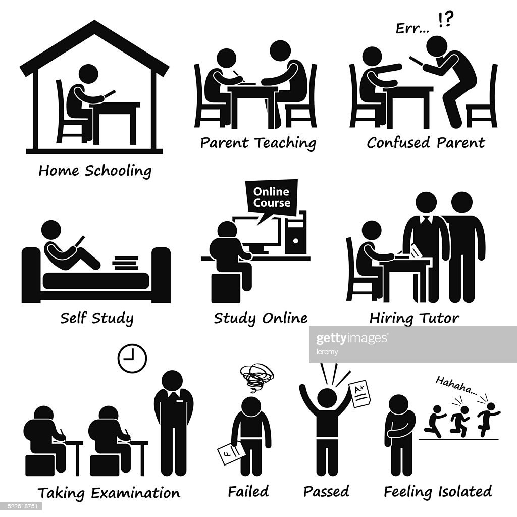 Homeschooling Home School Education Cliparts