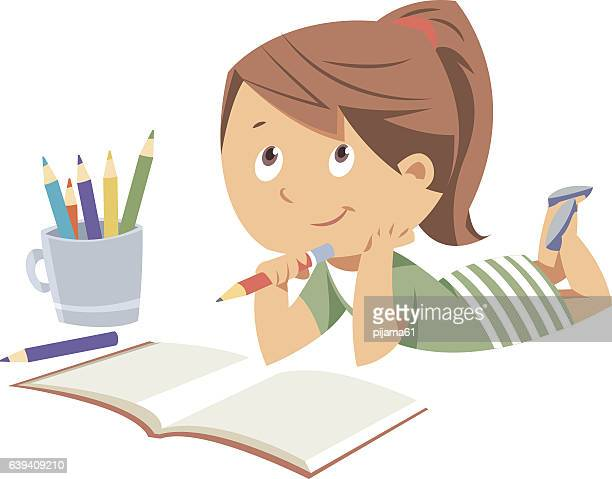 homework - pencil stock illustrations, clip art, cartoons, & icons
