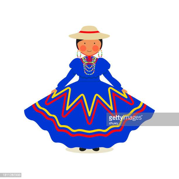 honduran traditional clothing for women - honduras stock illustrations