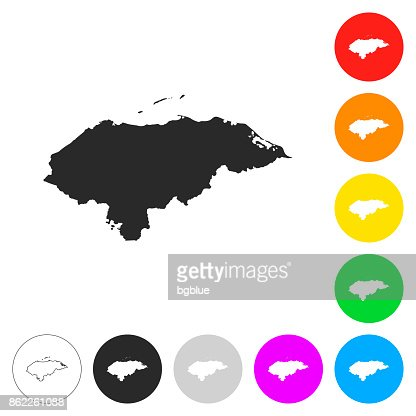 Honduras map flat icons on different color buttons vector art honduras map flat icons on different color buttons vector art getty images gumiabroncs Images