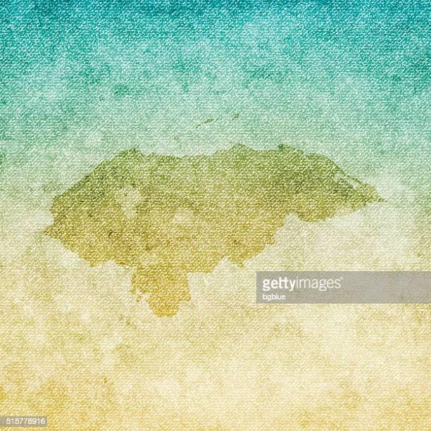 Honduras Weltkarte auf grunge-Leinwand Hintergrund