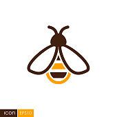 Honey bee vector icon
