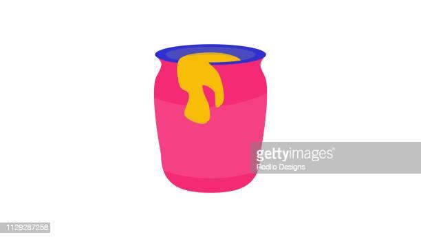 honey bottle icon - marmalade stock illustrations, clip art, cartoons, & icons