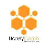 Honey Comb Logo Template Design Vector, honeycomb Emblem, Concept