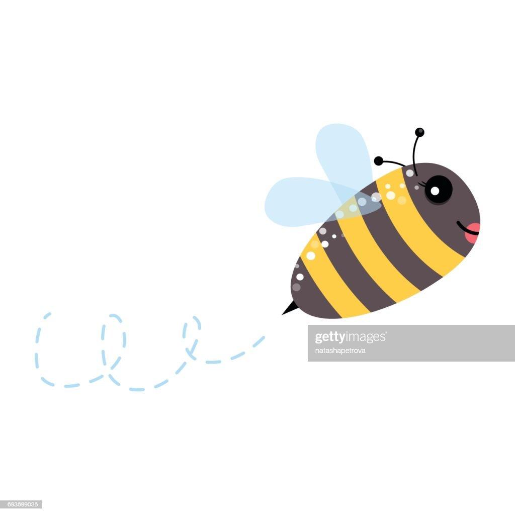 Honey flying bee