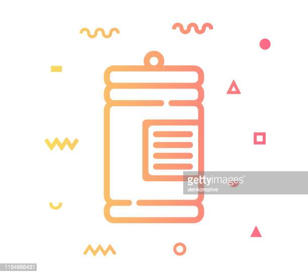 honey jar line style icon design - marmalade stock illustrations, clip art, cartoons, & icons