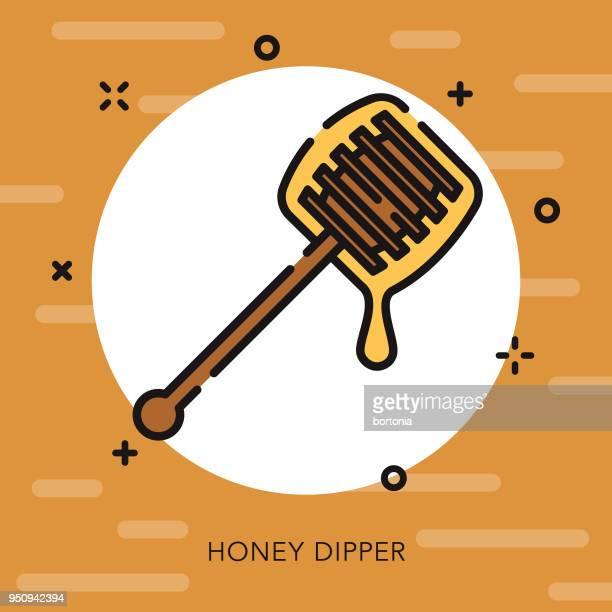 Honey Open Outline Thanksgiving Icon