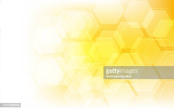 honey pattern vector illustration - yellow stock illustrations