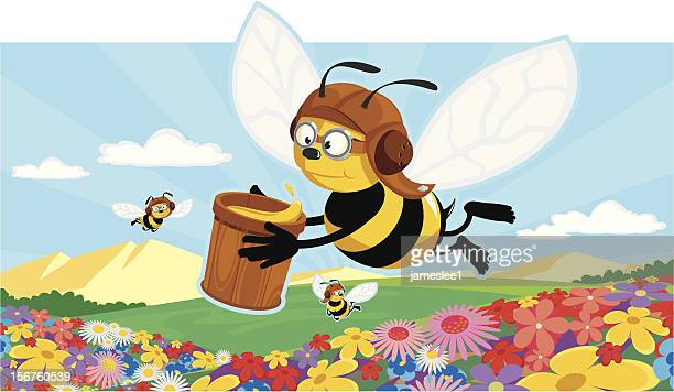 honey production - bumblebee stock illustrations, clip art, cartoons, & icons