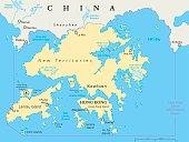 Hong Kong And Vicinity Political Map