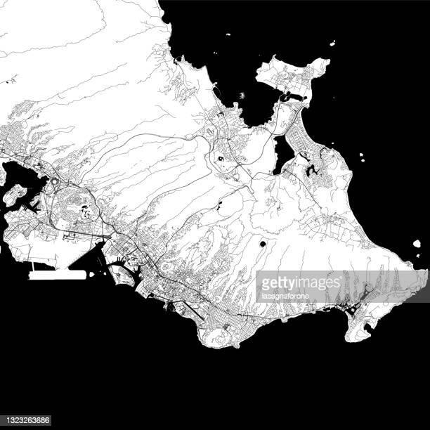 honolulu, hawaii usa vector map - honolulu stock illustrations