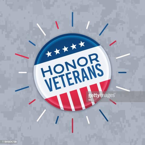 名誉退役軍人ボタンピン - 軍事点のイラスト素材/クリップアート素材/マンガ素材/アイコン素材