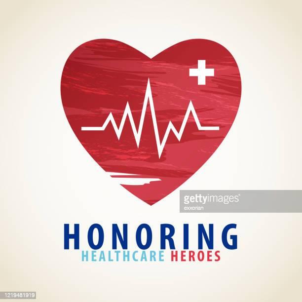 honoring healthcare heroes - healthcare worker stock illustrations