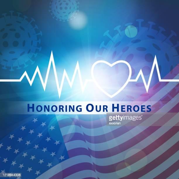 英雄を称える - ヘルスケアワーカー点のイラスト素材/クリップアート素材/マンガ素材/アイコン素材