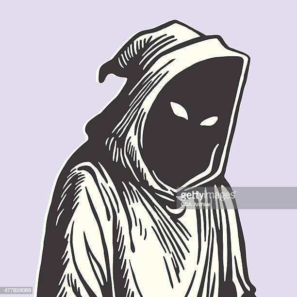 ilustraciones, imágenes clip art, dibujos animados e iconos de stock de capucha la muerte - la muerte