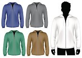 Hooded sweatshirt with zipper design template