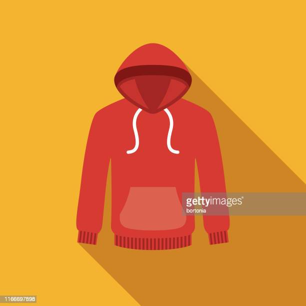 hoodie clothing & accessories icon - sweatshirt stock illustrations