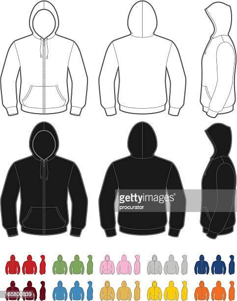hoodie - hood clothing stock illustrations