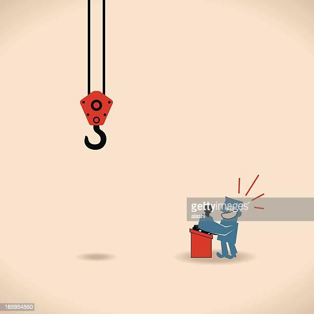 なフックアップ - 吊り上げる点のイラスト素材/クリップアート素材/マンガ素材/アイコン素材