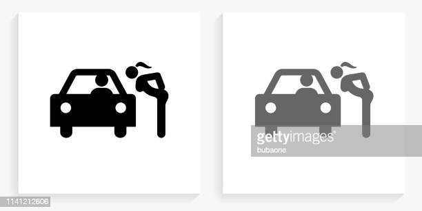 Hooker Black and White Square Icon