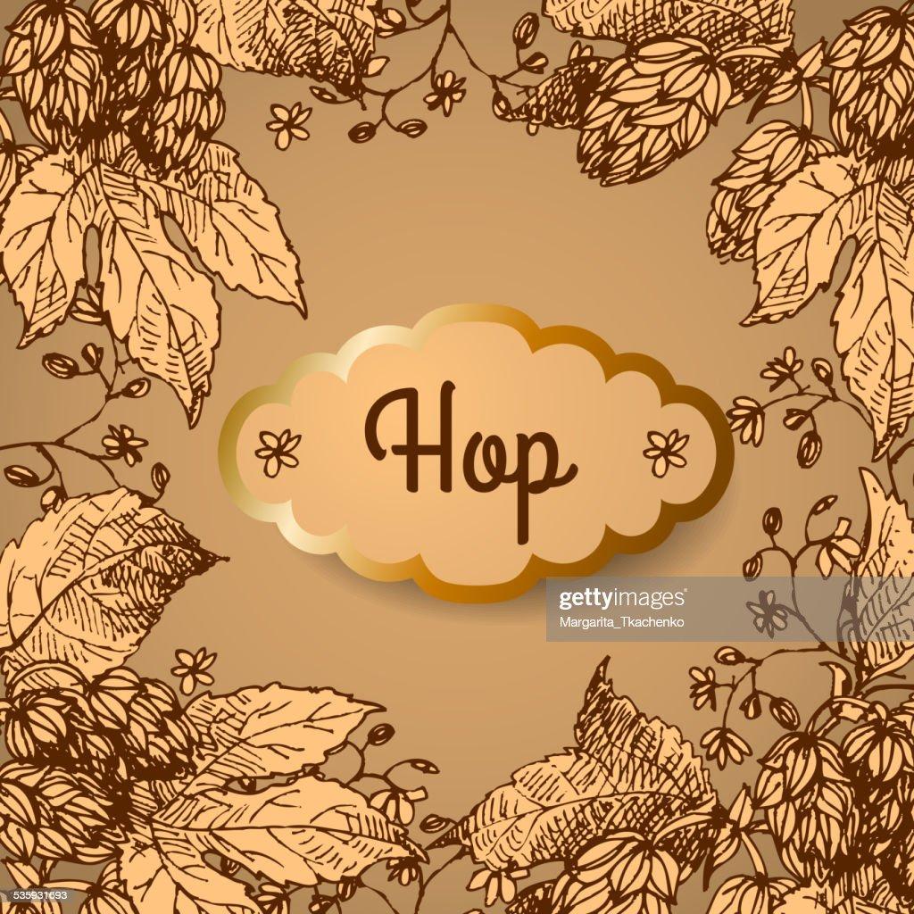 Hop. Vector illustration. : Vector Art