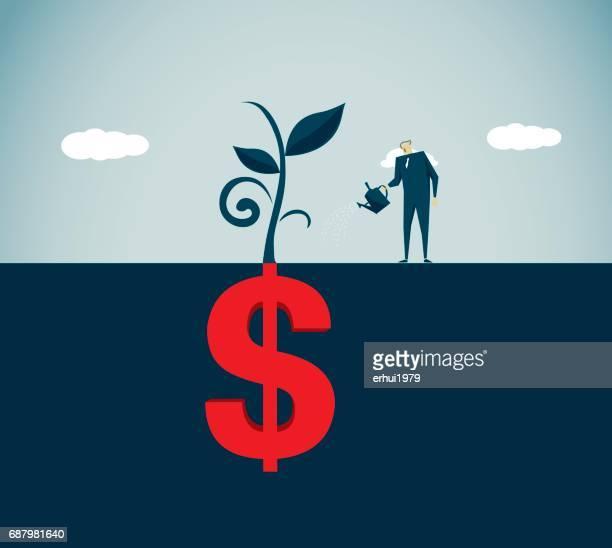 hope - concept - money tree stock illustrations, clip art, cartoons, & icons
