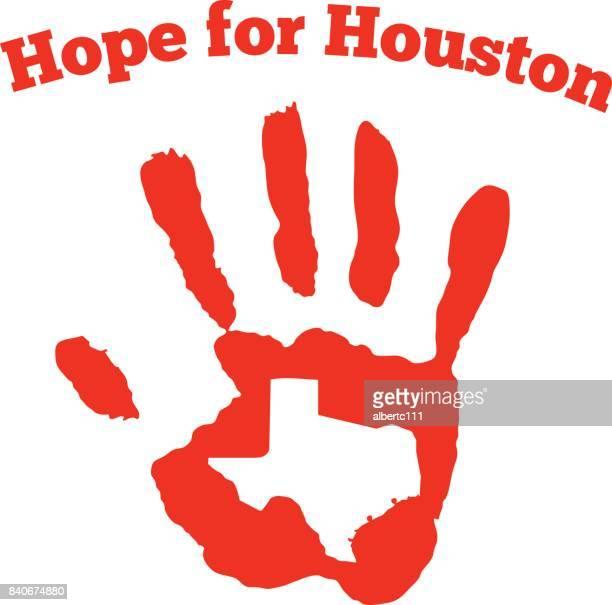 hope for houston graphic - hurricane stock illustrations, clip art, cartoons, & icons