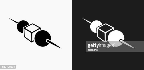 Horderves Icon on Black and White Vector Backgrounds