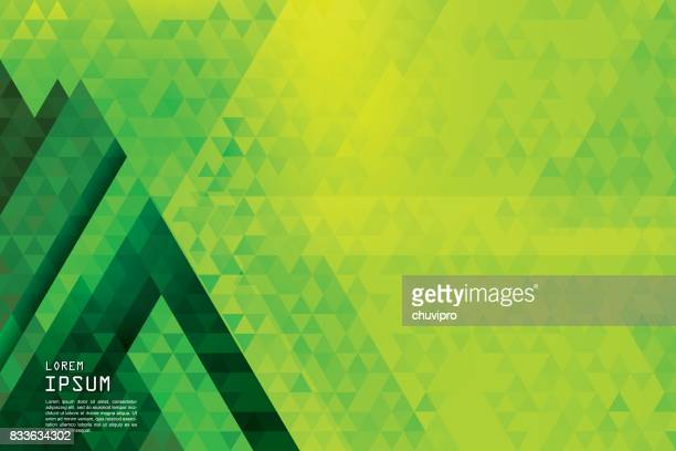Horizontal abstract triangles geometric background - Pine Forest