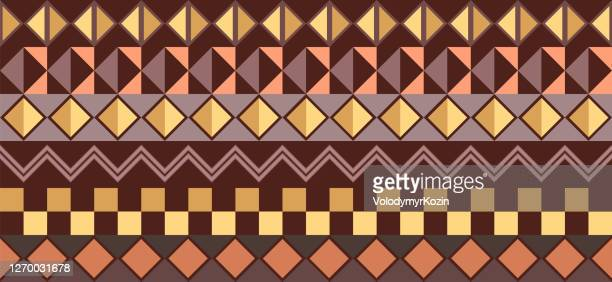 horizontal background - traditional african pattern - east africa stock illustrations