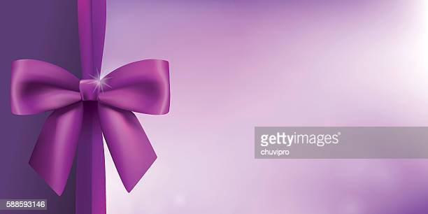 horizontal background with a satin bow in proportion of 1:2 - hair bow stock illustrations