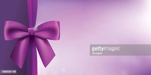 ilustrações de stock, clip art, desenhos animados e ícones de horizontal background with a satin bow in proportion of 1:2 - panorâmica