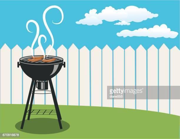 Horizontal Backyard BBQ Background