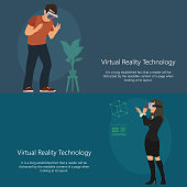 horizontal banner on the theme of virtual reality.