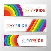 Horizontal banners for Pride Month. Gay culture, rainbow symbol