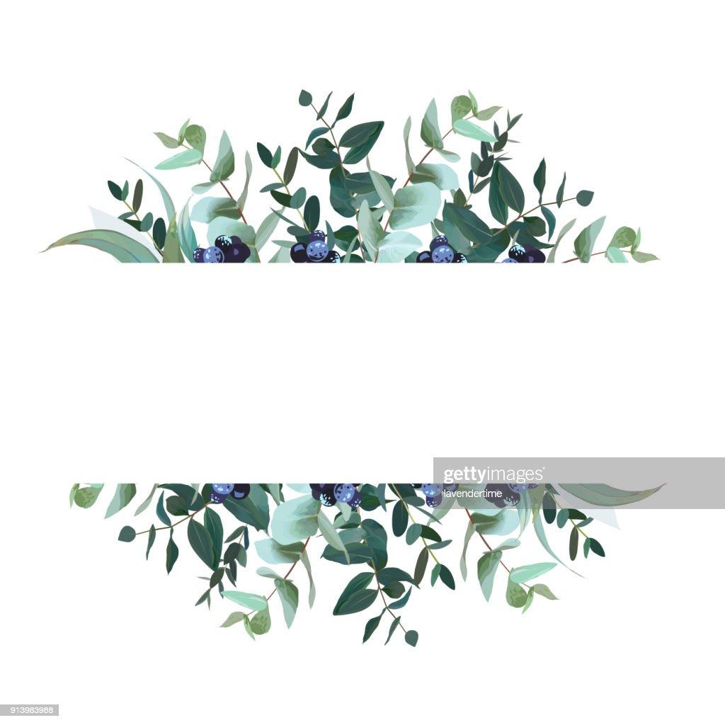 Horizontal botanical vector design banner