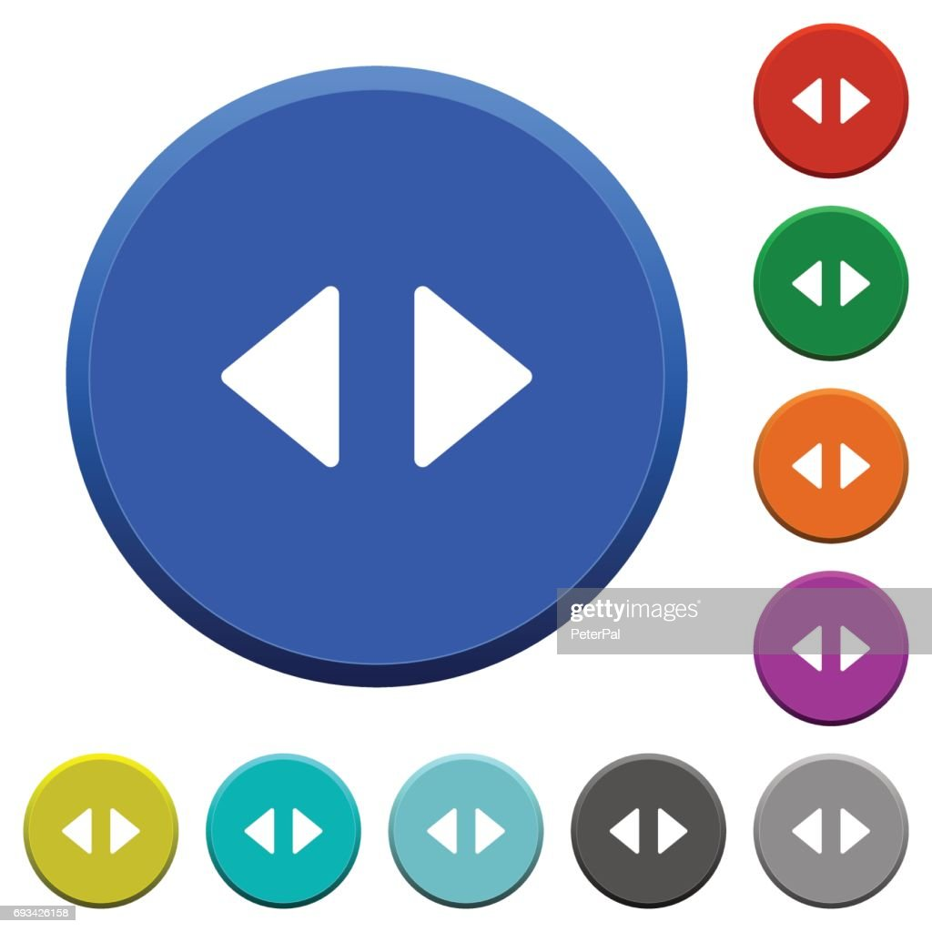 Horizontal control arrows beveled buttons