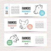Horizontal farm banners