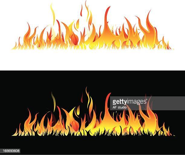 Horizontal flames
