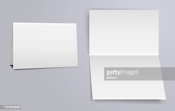 horizontal fold - blank stock illustrations